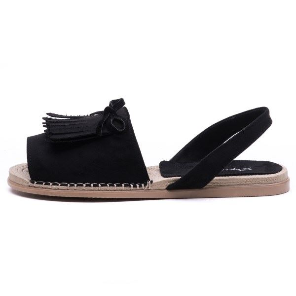 Allecra Sandalet Siyah Süet