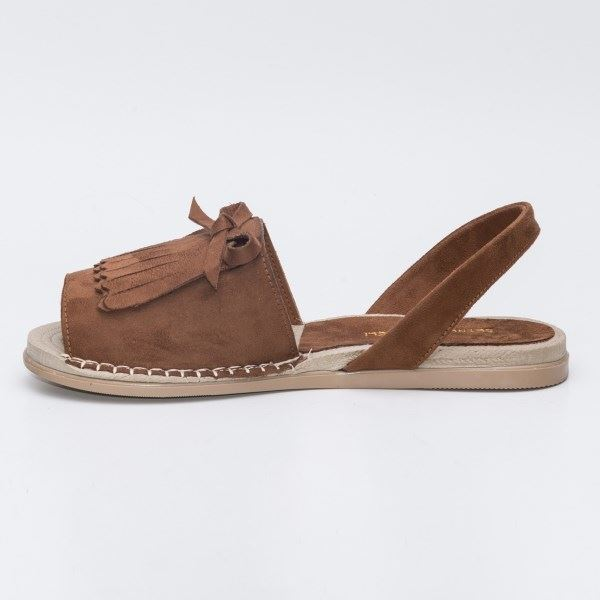 Allecra Sandalet Taba Süet