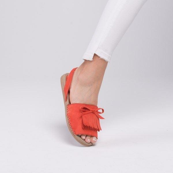 Allecra Sandalet Nar Çiçeği Süet