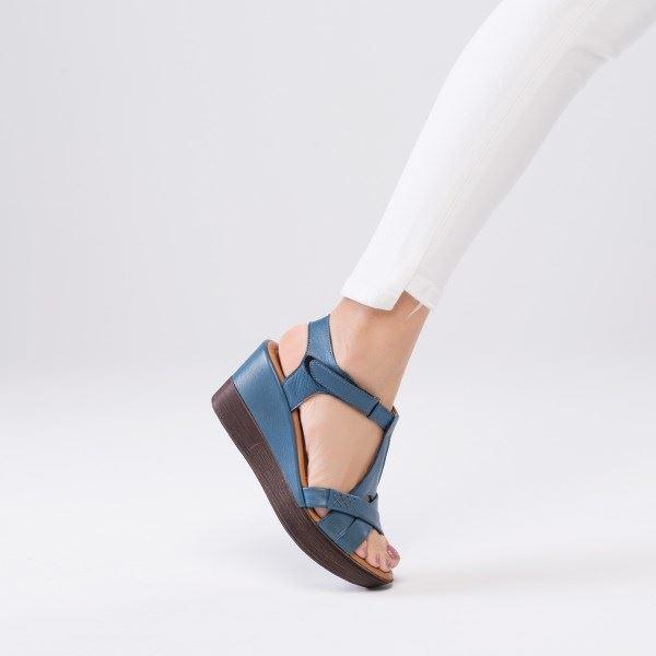 Daniele Deri Sandalet Mavi