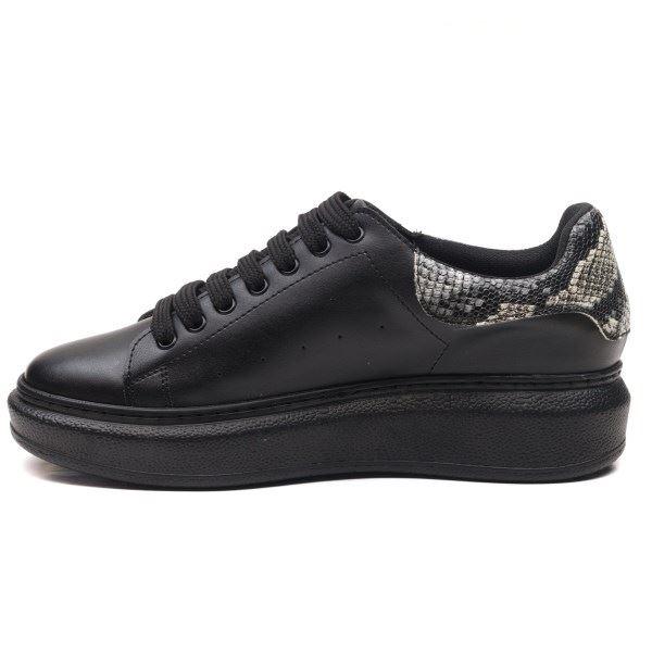 Alese Spor Ayakkabı Siyah Yılan