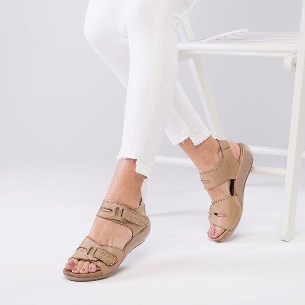 Orso Ortopedik Sandalet Kum