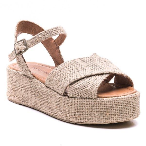 Beatrix Keten Sandalet
