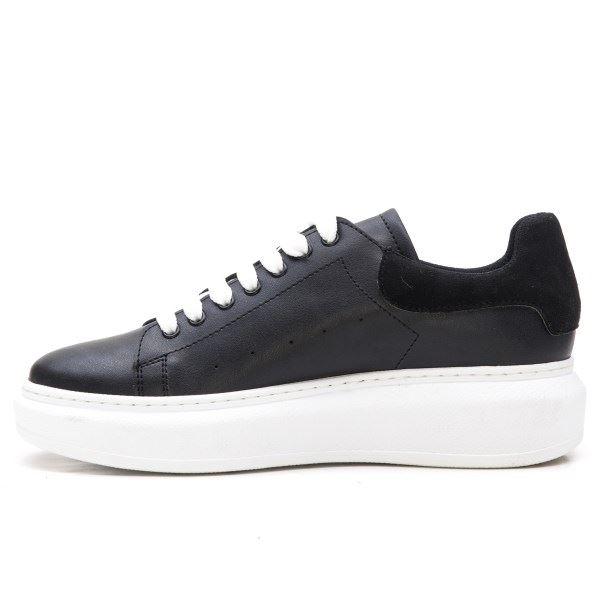 Alese Spor Ayakkabı Siyah Siyah Süet Beyaz Taban