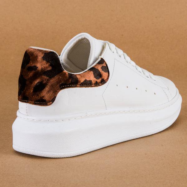 Alese Spor Ayakkabı Beyaz Leopar