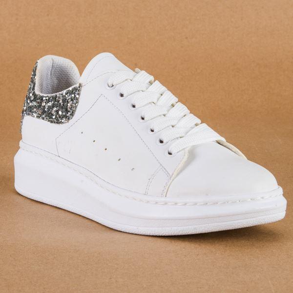 Alese Spor Ayakkabı Beyaz Cam