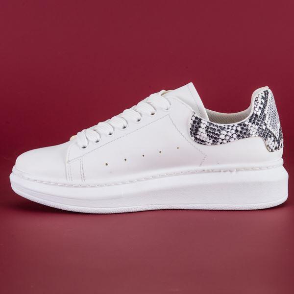 Alese Spor Ayakkabı Beyaz Yılan