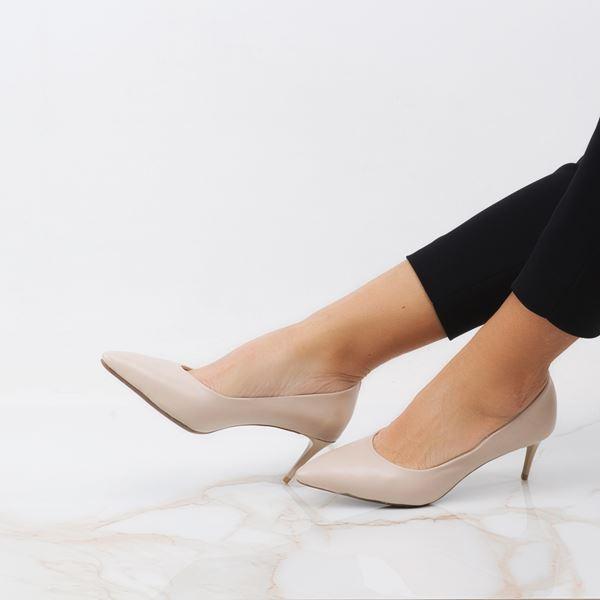 Gratia Kadın Stiletto Bej