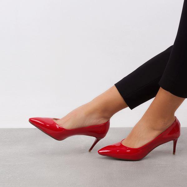 Gratia Kadın Stiletto Kırmızı Rugan