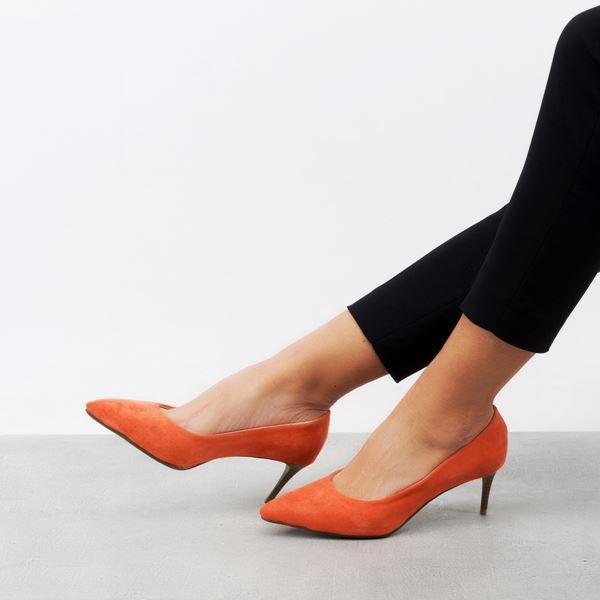 Gratia Kadın Stiletto Oranj Süet