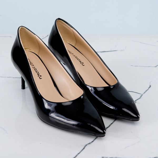 Gratia Kadın Stiletto Siyah Rugan