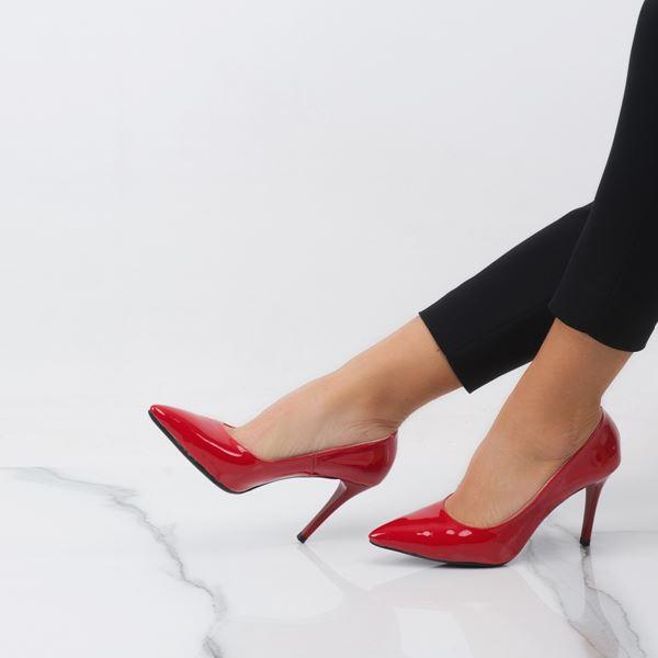 Marita Kadın Stiletto Kırmızı Rugan