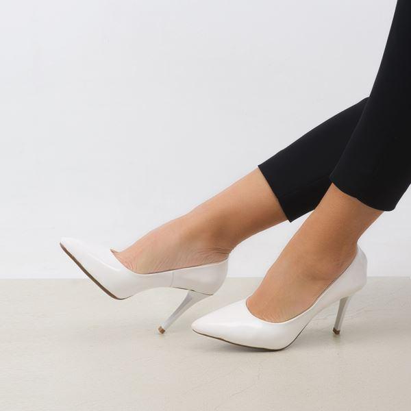 Marita Kadın Stiletto Beyaz Rugan