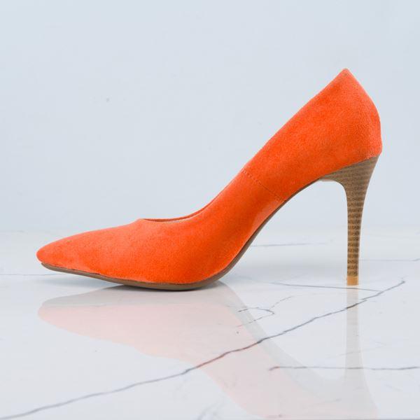 Marita Kadın Stiletto Oranj Süet