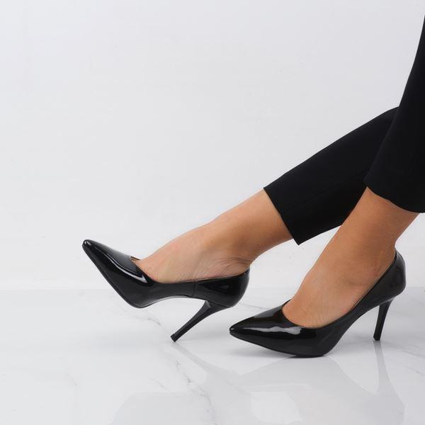Marita Kadın Stiletto Siyah Rugan