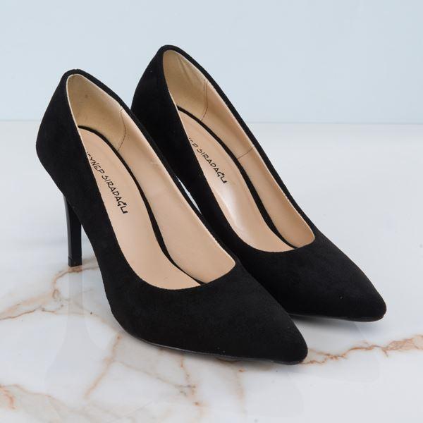 Marita Kadın Stiletto Siyah Süet