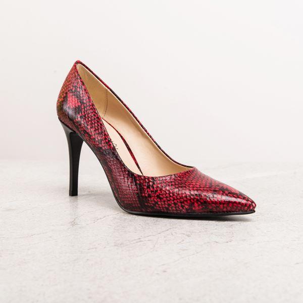 Marita Kadın Stiletto Kırmızı Yılan