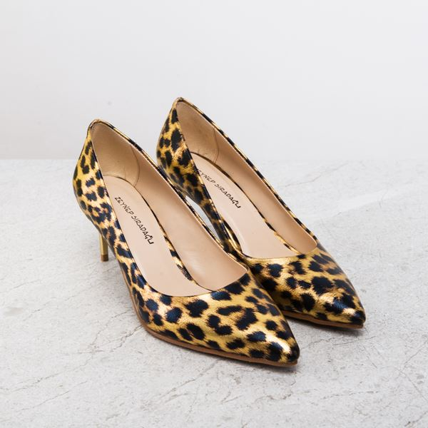 Gratia Kadın Stiletto Leopar