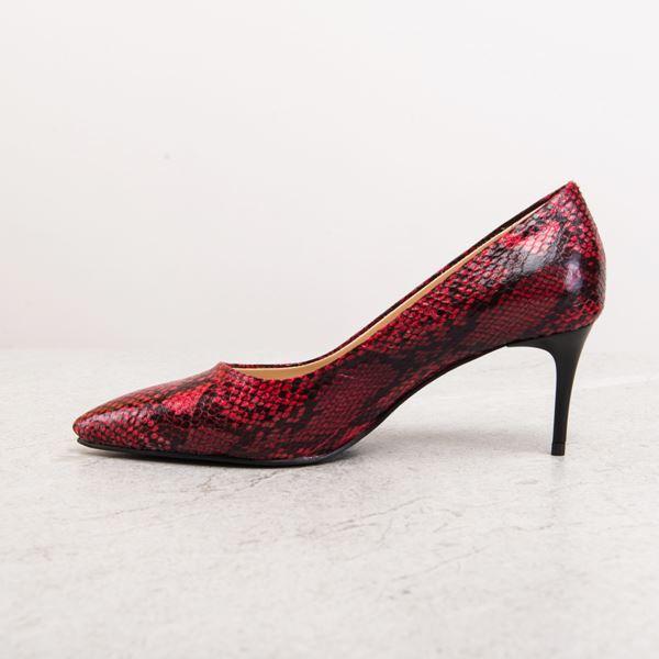 Gratia Kadın Stiletto Kırmızı Yılan