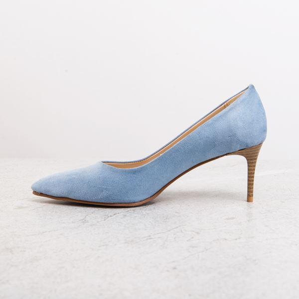 Gratia Kadın Stiletto Mavi Süet