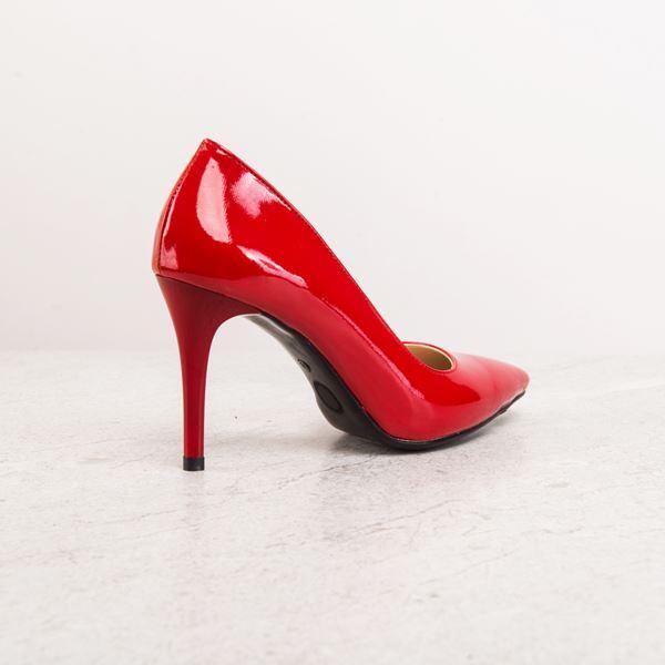 Orabella Kadın Stiletto Kırmızı Rugan