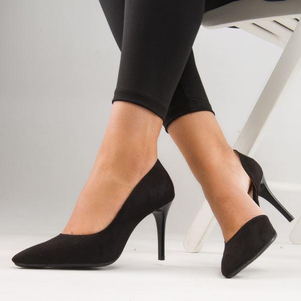 Orabella Kadın Stiletto Siyah Süet