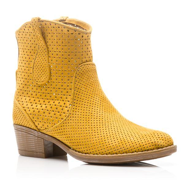 Valente Kadın Western Bot Sarı Süet