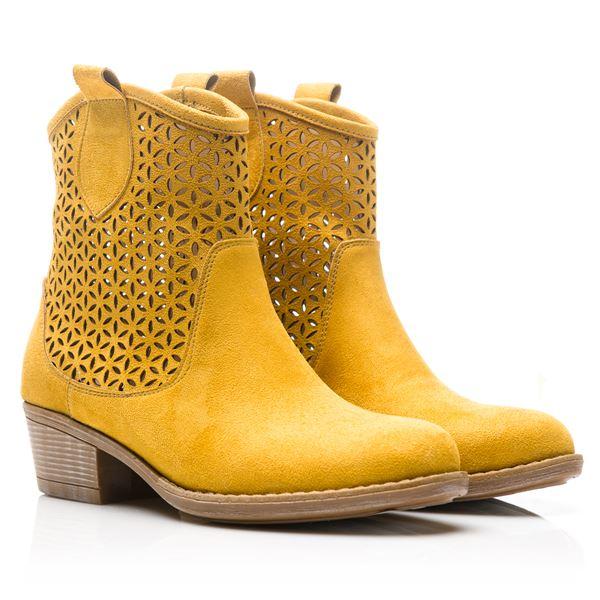 Vitale Kadın Western Bot Sarı Süet