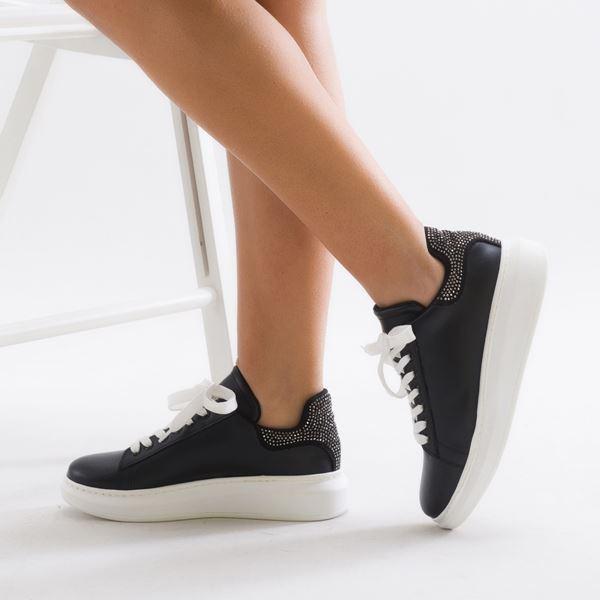 Calvina Kadın Spor Ayakkabı Siyaha-Siyah Süet