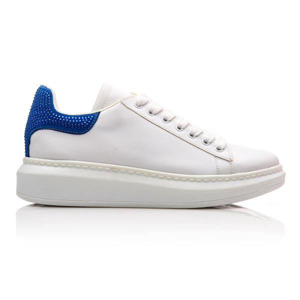 Calvina Kadın Spor Ayakkabı Beyaz Saks Süet
