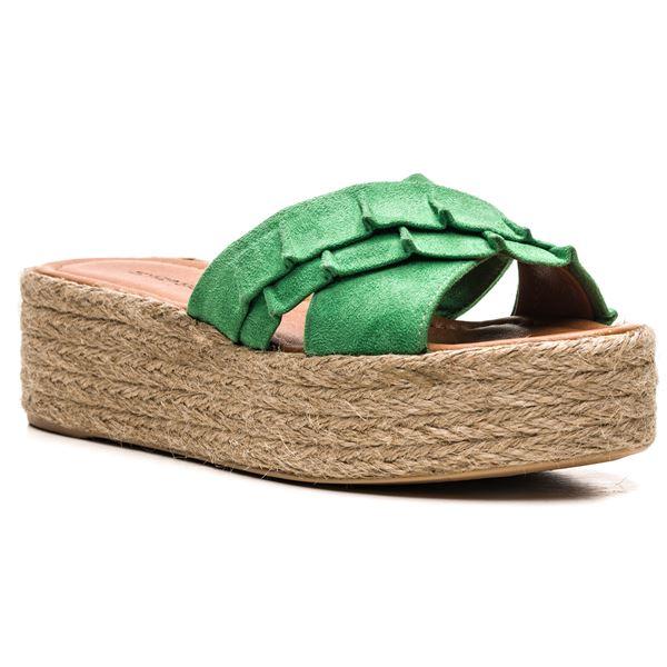 Vicente Kadın Terlik Yeşil Süet