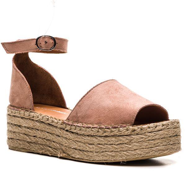 Bionda Kadın Sandalet Pudra Süet