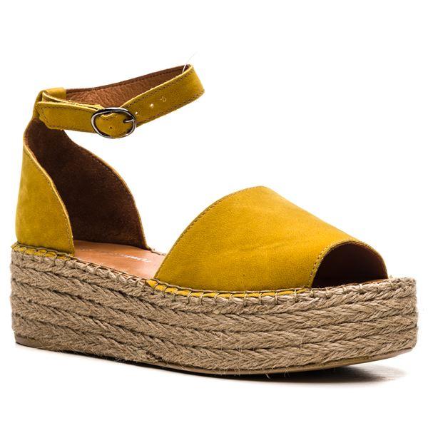 Bionda Kadın Sandalet Sarı Süet