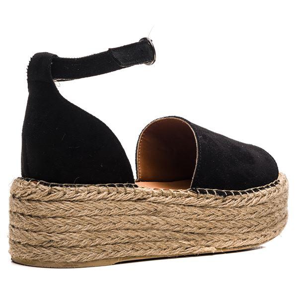Bionda Kadın Sandalet Siyah Süet