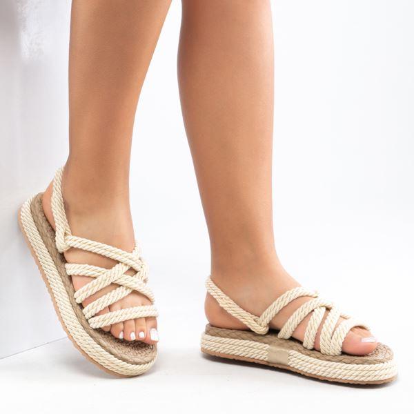 Vero Kadın İp Sandalet Bej