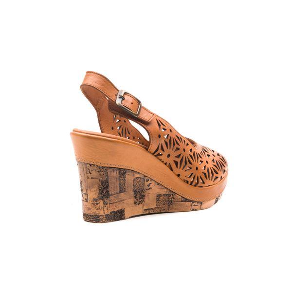 Fresco Kadın Deri Dolgu Sandalet Taba