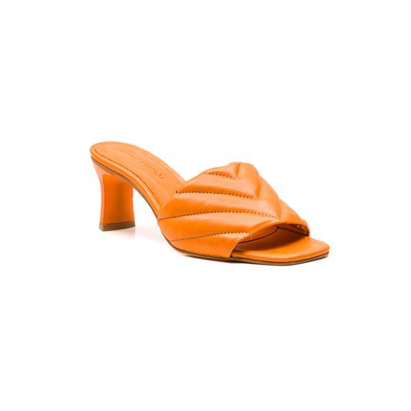 Cirilo Kadın Deri Terlik Oranj
