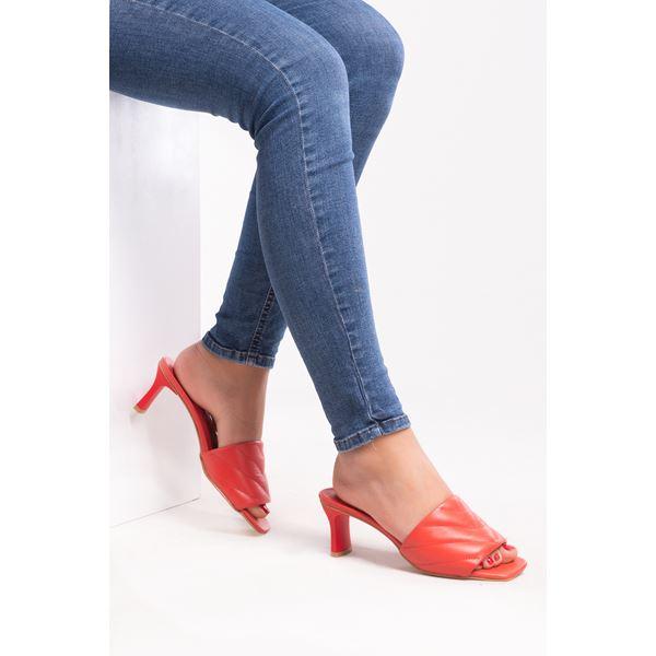 Cirilo Kadın Deri Terlik Kırmızı
