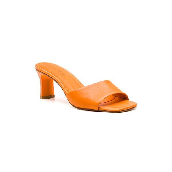 Flavio Kadın Deri Terlik Oranj