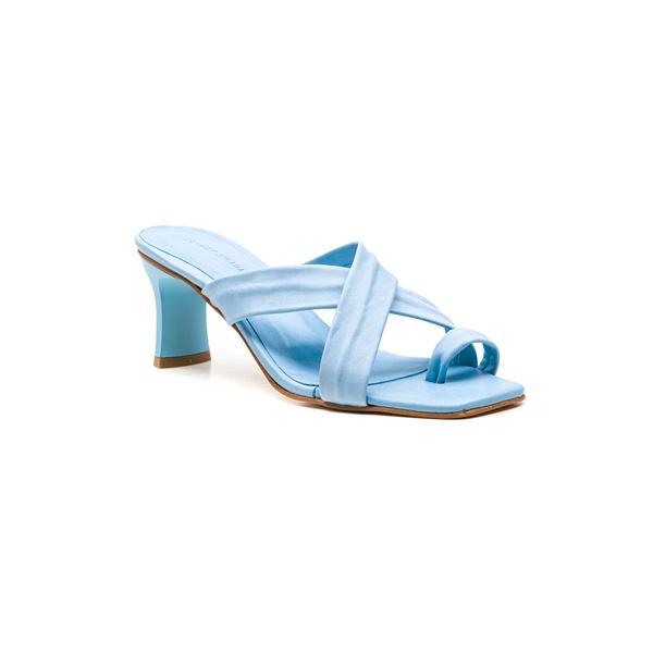 Gervasio Kadın Deri Terlik Mavi