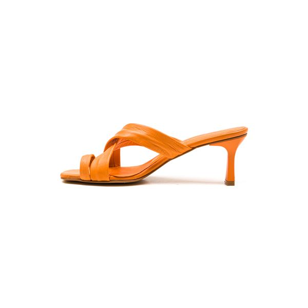 Gervasio Kadın Deri Terlik Oranj