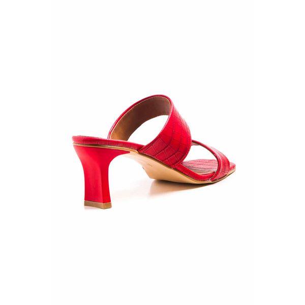 Hernan Kadın Terlik Kırmızı Kroko