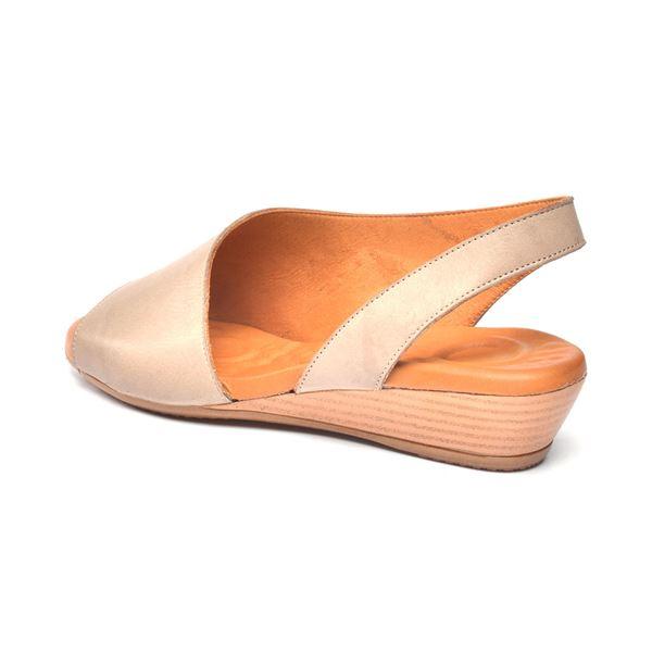 Nieve Kadın Deri Sandalet Kum