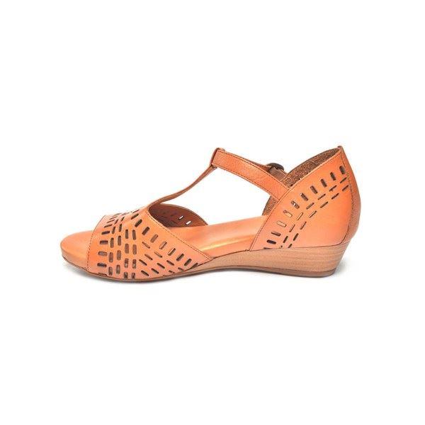 Pirro Kadın Deri Sandalet Taba