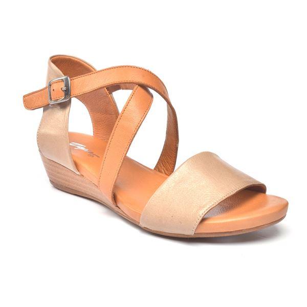 Verano Kadın Deri Sandalet Kum Taba