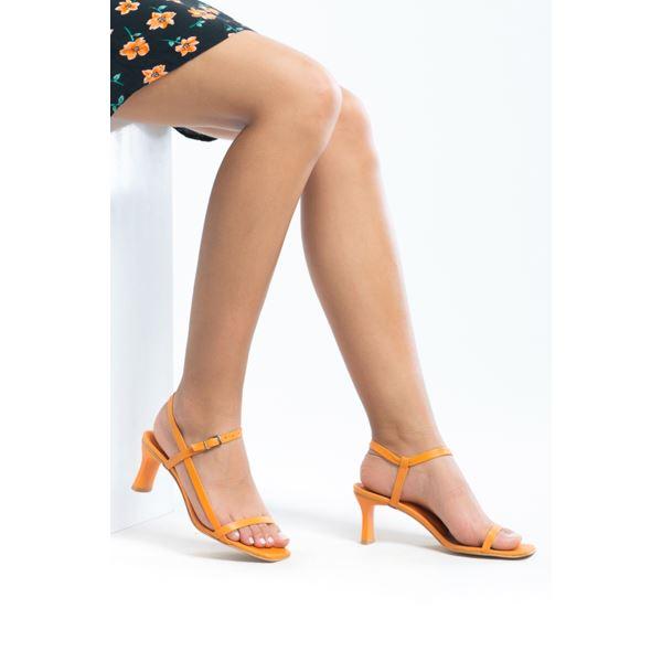 Alpha Kadın Deri Sandalet Oranj