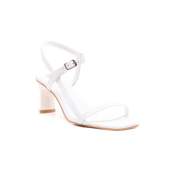 Alpha Kadın Deri Sandalet Beyaz