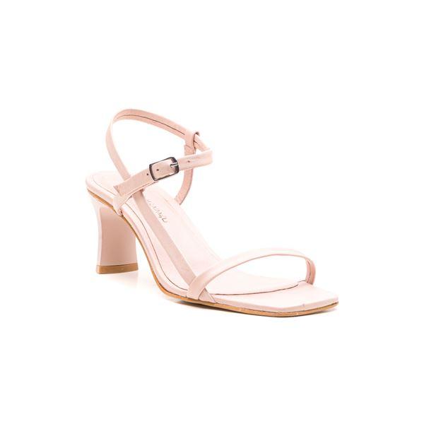 Alpha Kadın Deri Sandalet Pudra