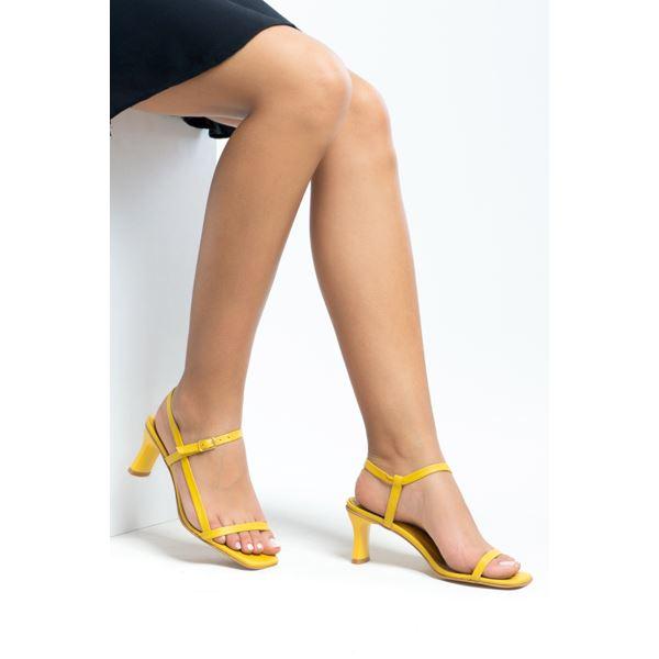 Alpha Kadın Deri Sandalet Sarı