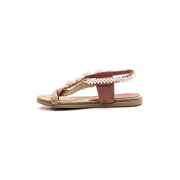 Senona Kadın Sandalet Pudra Süet
